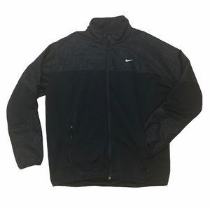 Nike navy blue geometric track jacket mens XL